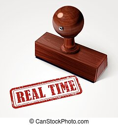 stamp real time in red