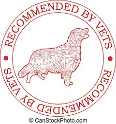 Stamp recommended by vets with retriever - Vector stamp...
