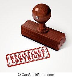 stamp registered copyright in red