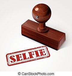 stamp selfie in red