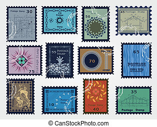 Stamp set for sale. Vector