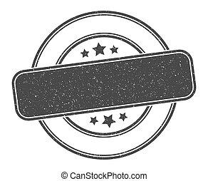 stamp., signe, grunge, vide, label., rond