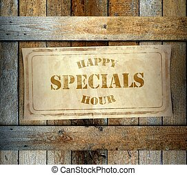 Stamp Special Happy Hour old wooden box - Stamp Special...