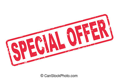 stamp special offer with red text on white