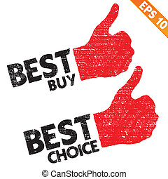 Stamp sticker best buy tag collection  - Vector illustration - EPS10