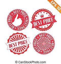 Stamp sticker best collection  - Vector illustration - EPS10
