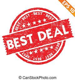 Stamp sticker best deal collection - Vector illustration -...