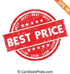 Stamp sticker best price collection  - Vector illustration - EPS10