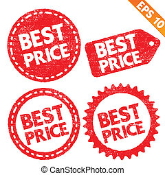 Stamp sticker best price tag collection  - Vector illustration - EPS10