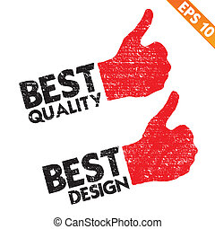 Stamp sticker best quality tag collection  - Vector illustration - EPS10