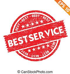 Stamp sticker best service collection - Vector illustration - EPS10