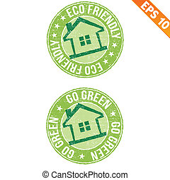 Stamp sticker ECO collection  - Vector illustration - EPS10