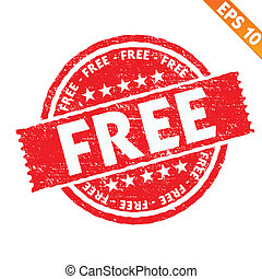 Stamp sticker Free collection  - Vector illustration - EPS10