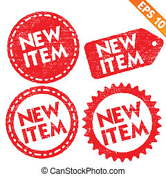 Stamp sticker new item tag collection - Vector illustration...