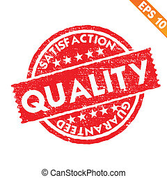 Stamp sticker quality collection  - Vector illustration - EPS10