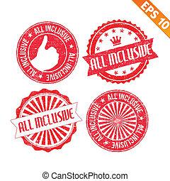 Stamp sticker real estate collection  - Vector illustration - EPS10