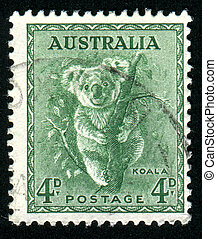 stamp - AUSTRALIA - CIRCA 1937: stamp printed by Australia,...