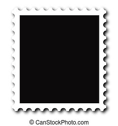 Stamp - A blank stamp. Put your image inside black area.