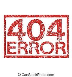 Stamp text 404 ERROR