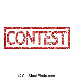 Stamp text CONTEST