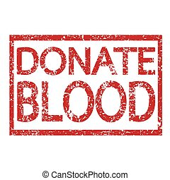 Stamp text DONATE BLOOD