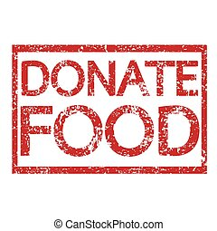 Stamp text DONATE FOOD