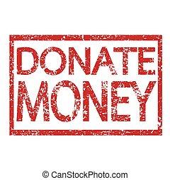 Stamp text DONATE MONEY