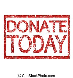 Stamp text DONATE TODAY