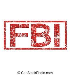 Stamp text FBI