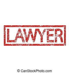 Stamp text LAWYER