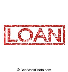 Stamp text LOAN