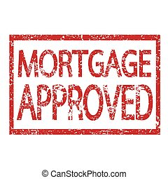 Stamp text MORTGAGE APPROVED