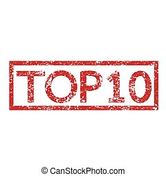 Stamp text TOP10