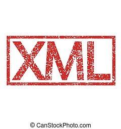 Stamp text XML