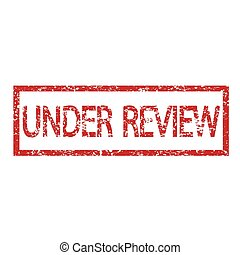 stamp under review text