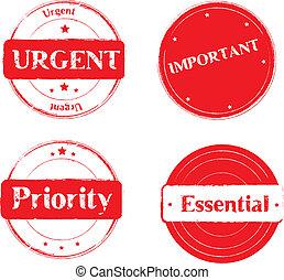 Stamp-Urgent - essential - priority