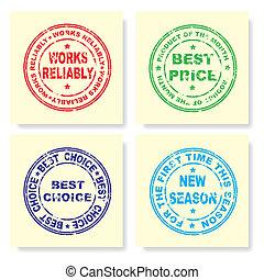 Stamp. Vector illustration.