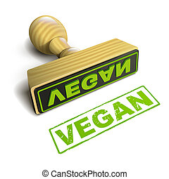 stamp vegan with green text on white - stamp vegan with ...