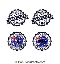 Stamp welcome to Sydney Australia Collection