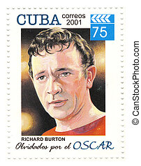 stamp with actor richard burton