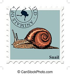stamp with animal