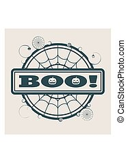 Stamp with Boo text