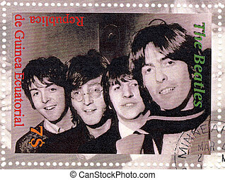 stamp with famous group The Beatles
