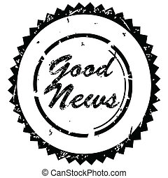 Stamp with 'Good news' text