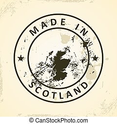 Stamp with map of Scotland