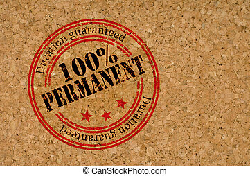 """Permanent - Stamp with """"Permanent"""" text on texture of wood"""