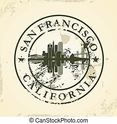 stamp with San Francisco