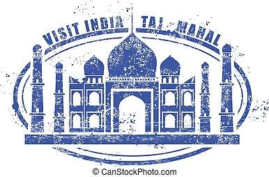 Stamp with Taj Mahal palace