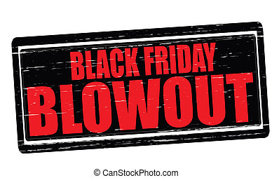 Stamp with text Black Friday blowout inside, vector illustration