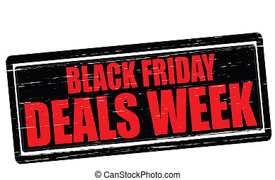 Black Friday deals week - Stamp with text Black Friday deals...